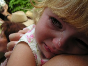 Child crying: Life is not fair because God is not fair