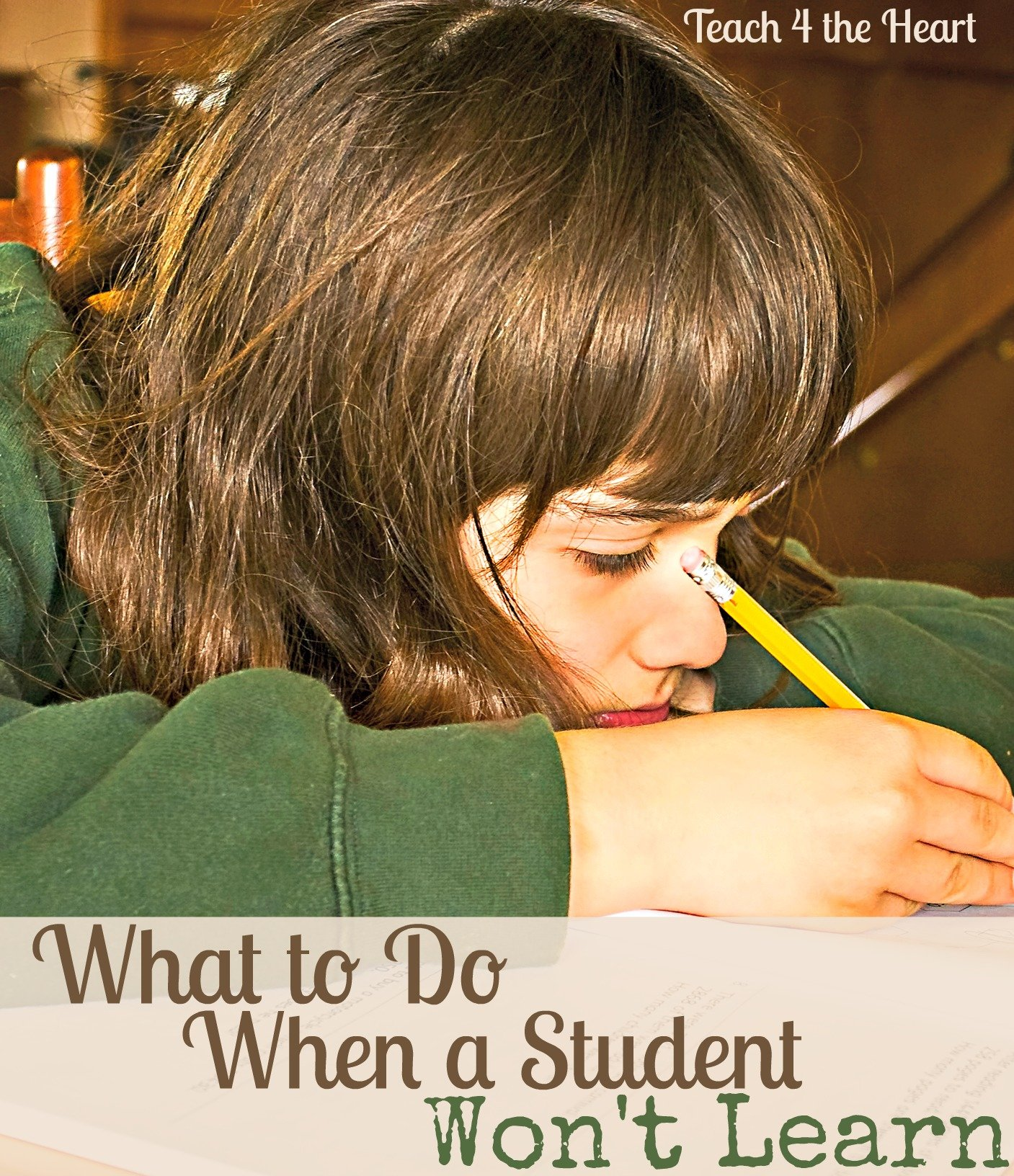 What to Do When a Student Won't Learn