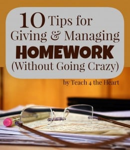 How to Manage Homework without going crazy