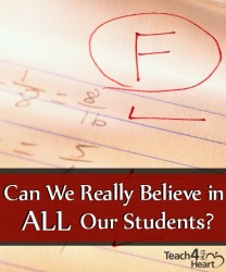 Can we really believe in all our students