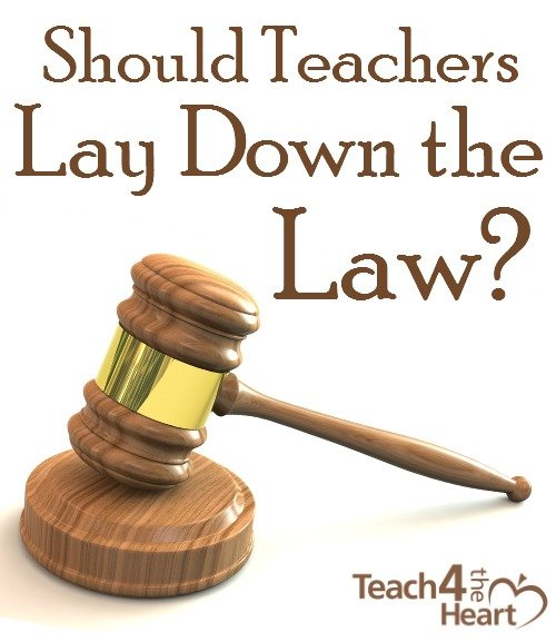 Should Teacher Lay Down the Law?