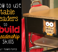 How to use table leaders to build leadership skills