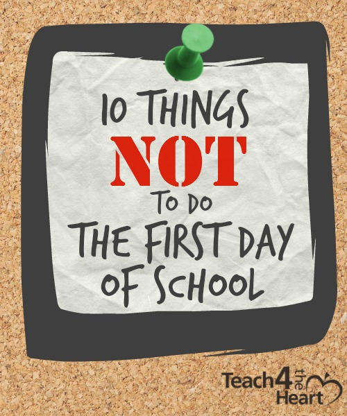 What not to do the first day of school