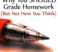 Why You Should Grade Homework (But Not How You Think)