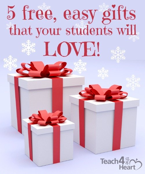 5 free, easy gift ideas to give your students at Christmas