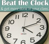 It is possible to get more done in each class period! Check out these 9 ways to beat the clock & get more done in your class.