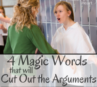 4 magic words that will cut out the arguments