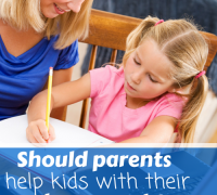 Should parents help kids with their homework?