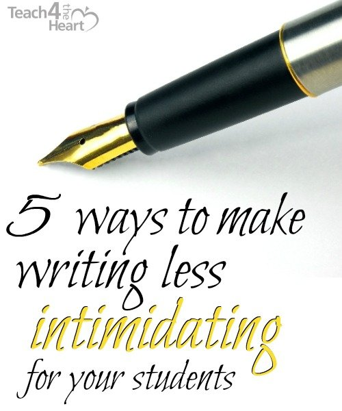 make writing less intimidating