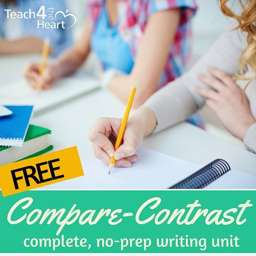 free compare / contrast writing unit
