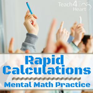 rapid calculations mental math practice drills
