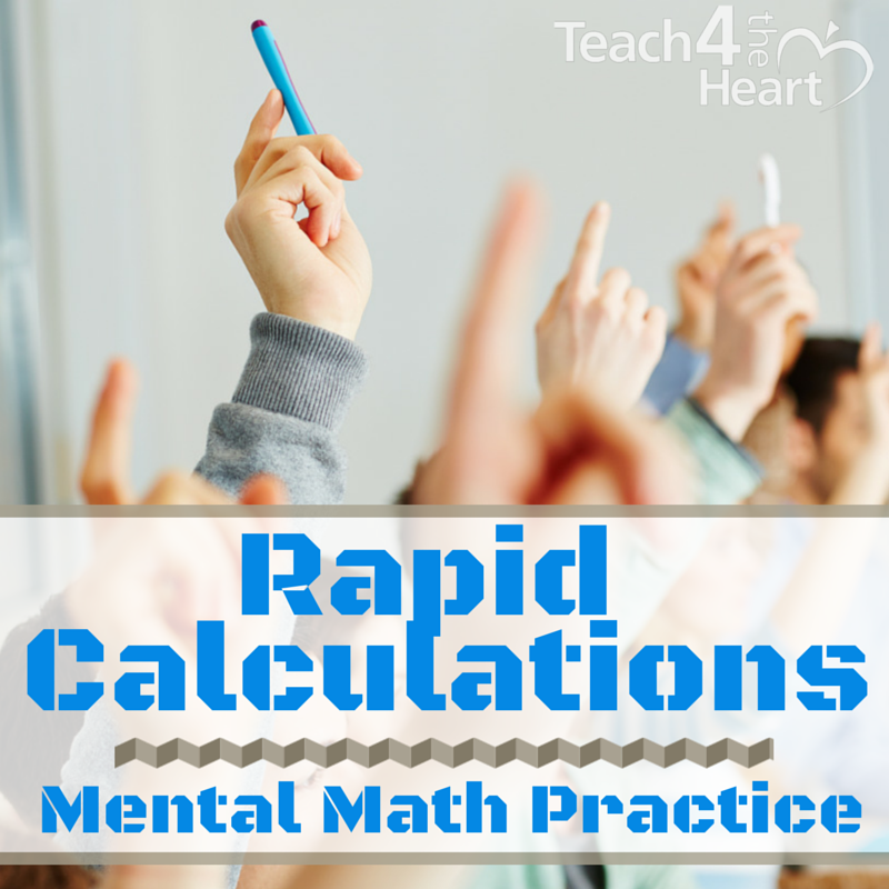 rapid calculations mental math practice drills