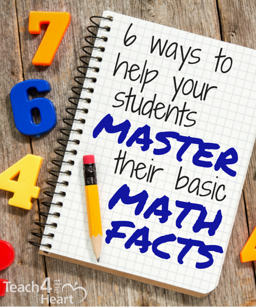6 ways to help your students master their basic math facts