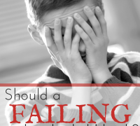 Should a failing student be held back?