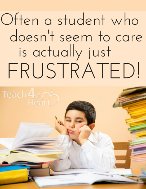 students who dont seem to care