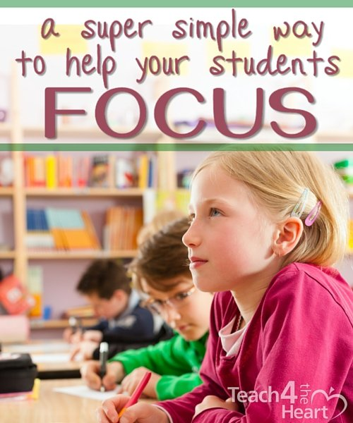a super simple way to help your students focus