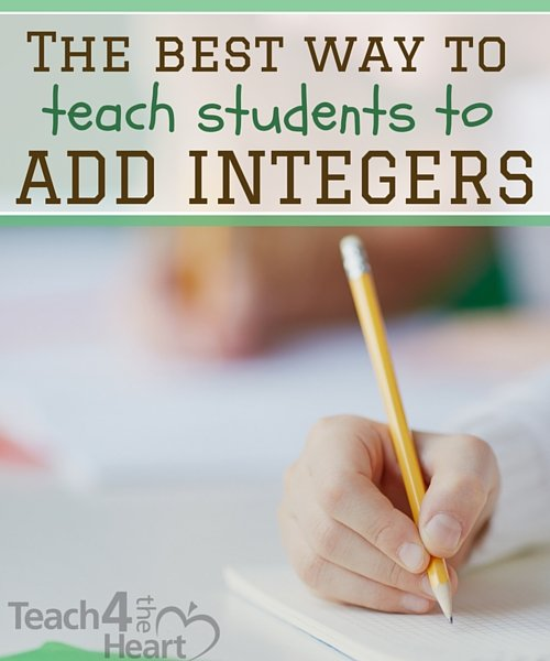the best way to teach students to add integers