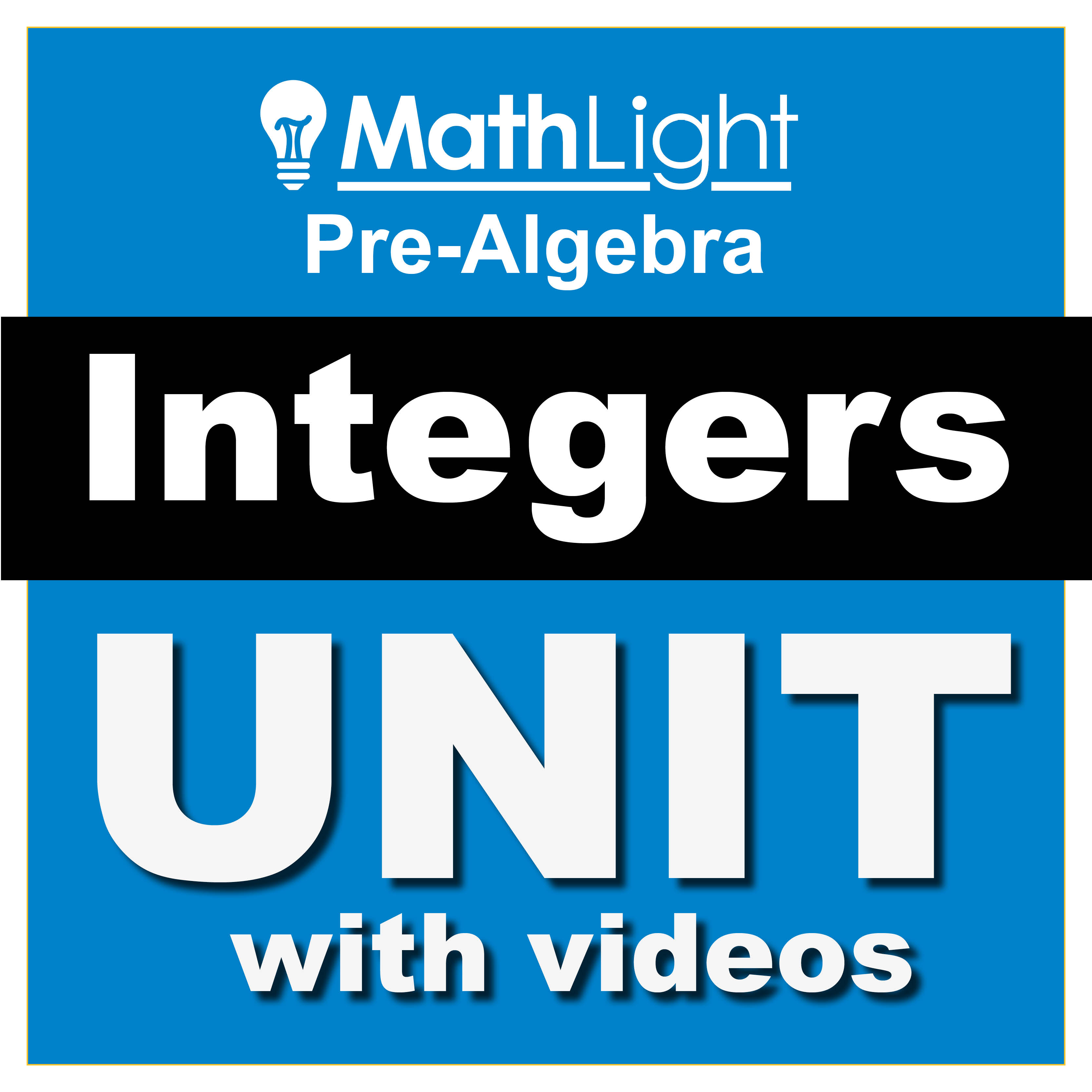 free integers unit teaching adding integers, subtracting integers, multiplying integers and more. full curriculum with videos