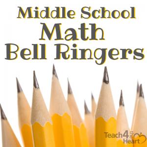 middle school math bellringers