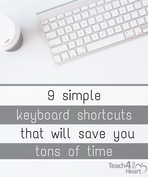 9 simple keyboard shortcuts that will save you time