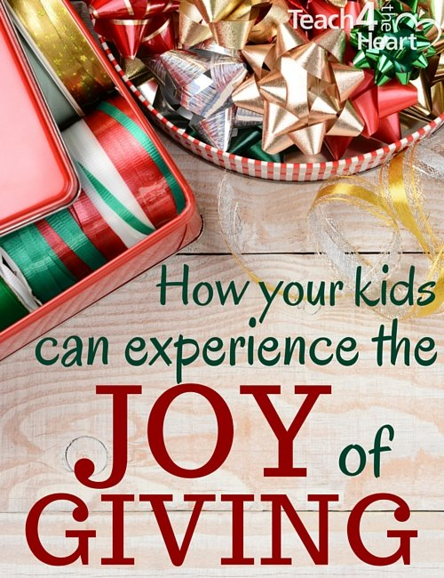 the joy of giving at Christmas