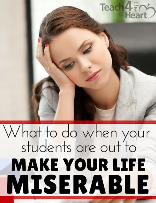 What to do when your students are out to make your life miserable