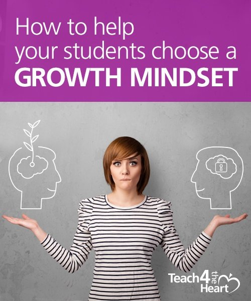 help your students choose a growth mindset