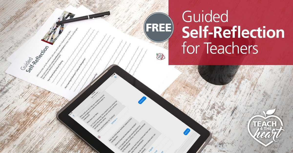 Free Guided Self-Reflection for Teachers
