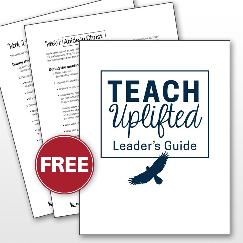 lead a group discussion for Teach Uplifted
