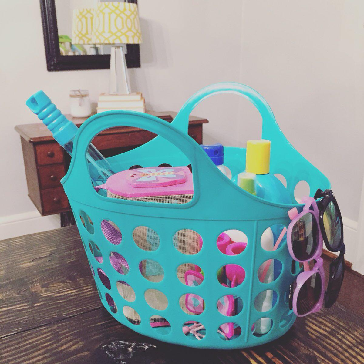 organized basket - organization tips for teacher moms