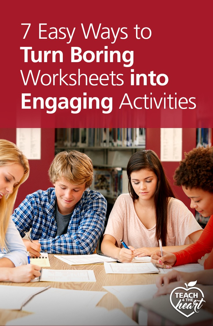 PIN 7 Easy Ways to Turn Boring Worksheets into Engaging Activities