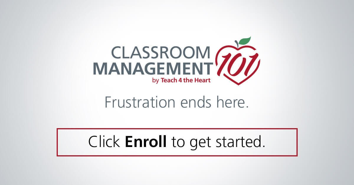 Classroom Management 101 by Teach 4 the Heart. Frustration ends here. Click Enroll to get started.