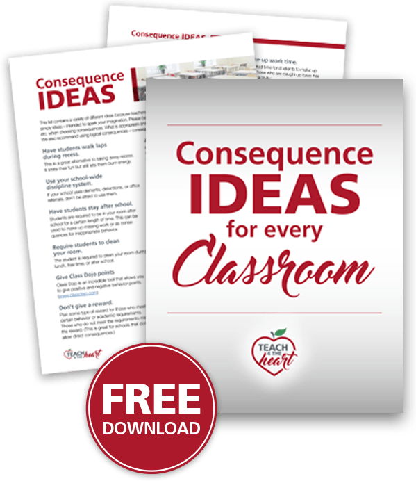 Free Download: Consequence Ideas for every Classroom