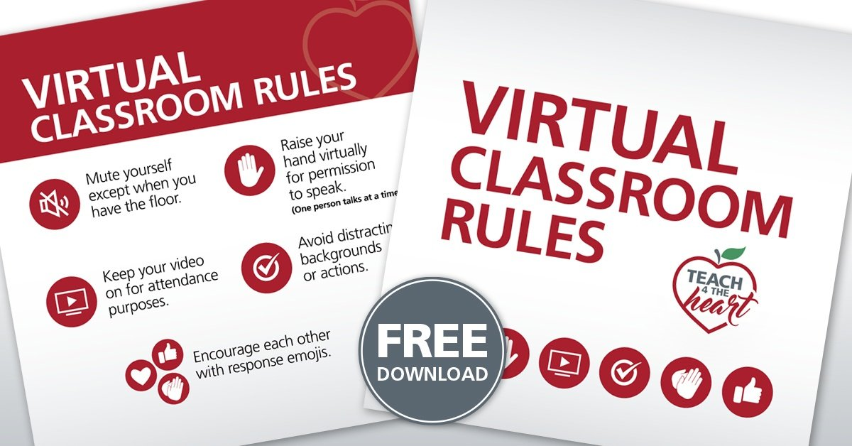 Teach 4 the Heart's Virtual Classroom Rules