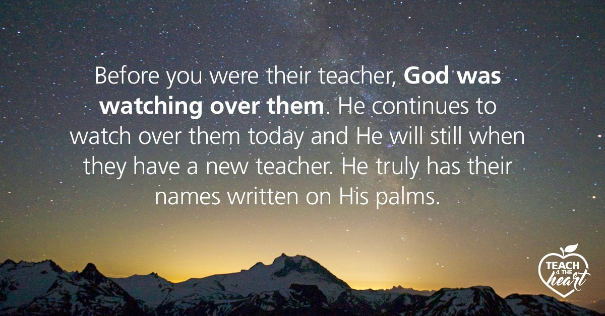 Quote...Before you were their teacher...