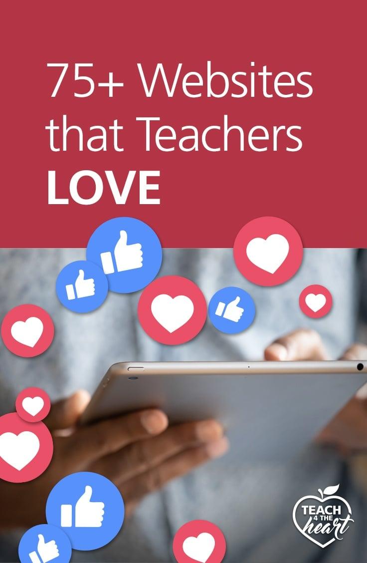 PIN 75+ Best Websites for Teachers
