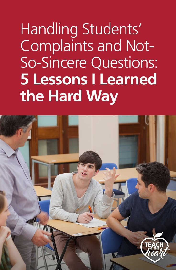 PIN Handling Students' Complaints and Not-So-Sincere Questions: 5 Lessons I Learned the Hard Way