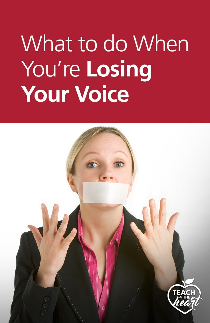 PIN What to do When You're Losing Your Voice