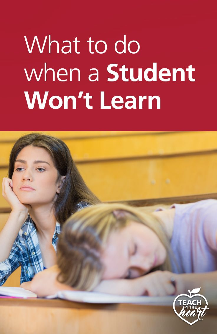 PIN What to do when a Student Won't Learn